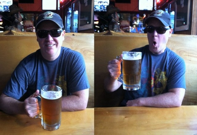 Big Beer at Scoreboard