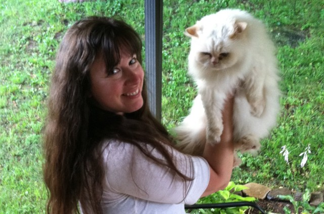Rachel & cat