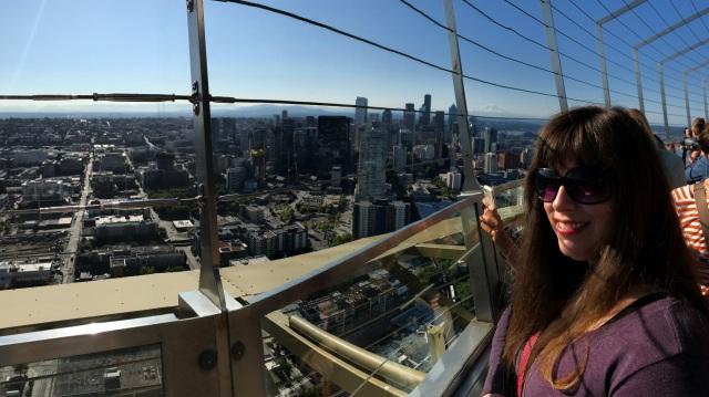Space Needle panoramic of Rachel